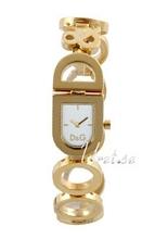 Dolce & Gabbana D&G Biały/Stal w odcieniu złota 22x20 mm