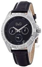 Dolce & Gabbana D&G Chamonix Czarny/Skóra Ø40 mm