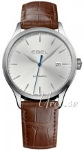 Ebel Classic 100 Srebrny/Skóra Ø40 mm