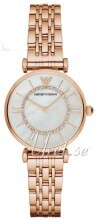 Emporio Armani Biały/Stal w kolorze różowego złota Ø32 mm