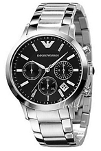 Emporio Armani Ladies Czarny/Stal Ø39 mm