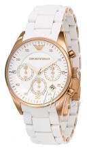 Emporio Armani Chronograph Srebrny/Stal w kolorze różowego złota