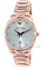Emporio Armani Srebrny/Stal w kolorze różowego złota