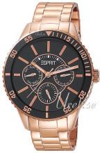 Esprit Czarny/Stal w kolorze różowego złota Ø40 mm