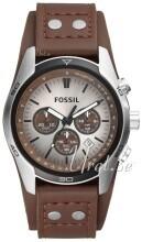 Fossil Casual Srebrny/Skóra