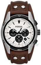 Fossil Chronograph Biały/Skóra