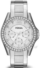 Fossil Riley Biały/Stal