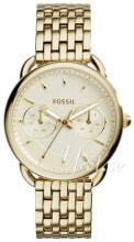 Fossil Żółte złoto/Stal w odcieniu złota Ø35 mm
