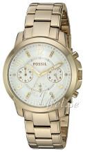 Fossil Biały/Stal w odcieniu złota