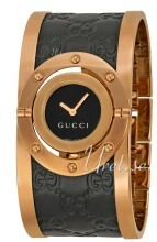 Gucci Twirl Czarny/Stal w kolorze różowego złota
