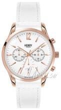 Henry London Chiswick Biały/Skóra Ø39 mm