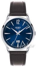 Henry London Harrow Niebieski/Skóra Ø41 mm
