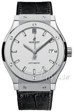 Hublot Classic Fusion Srebrny/Skóra Ø42 mm