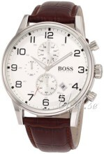 Hugo Boss Chronograph Srebrny/Skóra Ø44 mm