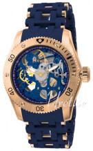 Invicta Sea Spider Niebieski/Stal w kolorze różowego złota
