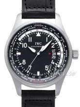 IWC Pilots Worldtimer Czarny/Skóra Ø45 mm