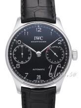 IWC Portuguese Czarny/Skóra Ø42.3 mm