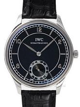 IWC Vintage Collection Portuguese Hand-Wound Czarna/Skóra Ø44 mm