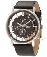 Kenneth Cole Mens Leather Szary/Skóra Ø44 mm