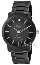 Kenneth Cole Mens Steel Czarny/Stal Ø44 mm