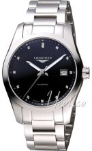 Longines Conquest Czarny/Stal
