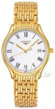 Longines Grande Classique Biały/Stal w odcieniu złota Ø32 mm