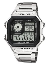 Casio Casio Collection Ekran LCD/Stal 42x42 mm AE-1200WHD-1AVEF