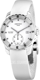 Certina DS First Lady Ceramic Small Second Biały/Guma Ø34.8 mm C014.235.17.011.00