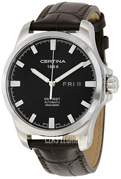Certina DS First Gent Czarny/Skóra Ø40.3 mm C014.407.16.051.00