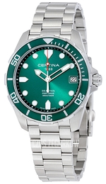 Certina DS Action Zielony/Stal Ø41 mm C032.410.11.091.00