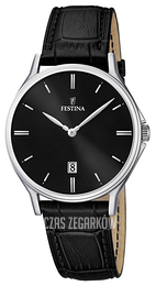 Festina Dress Czarny/Skóra Ø39 mm F16745-5