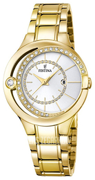 Festina Dress Srebrny/Stal w odcieniu złota Ø33 mm F16948-1