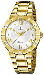 Festina Dress Srebrny/Stal w odcieniu złota Ø36 mm F20237-1