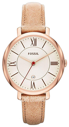 Fossil Dress Zloty/Skóra Ø36 mm ES3487