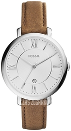 Fossil Dress Srebrny/Skóra Ø36 mm ES3708