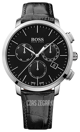 Hugo Boss Swiss Made Czarny/Skóra Ø44 mm 1513266