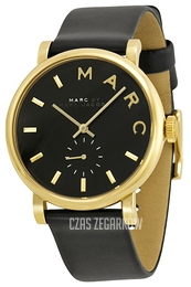 Marc by Marc Jacobs Baker Czarny/Skóra Ø37 mm MBM1269