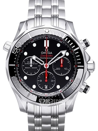 Omega Seamaster Diver 300m Co-Axial Chronograph 44mm Czarny/Stal Ø44 mm 212.30.44.50.01.001