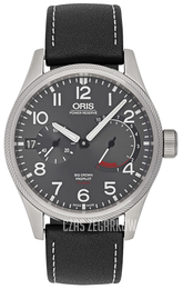 Oris Aviation Szary/Skóra Ø44 mm 01 111 7711 4163-Set 5 22 19FC