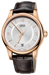 Oris Culture Srebrny/Skóra Ø37 mm 01 733 7578 4831-07 6 18 10