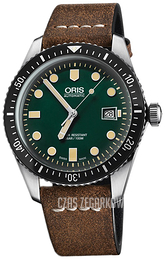 Oris Diving Zielony/Skóra Ø42 mm 01 733 7720 4057-07 5 21 02