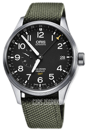 Oris Aviation Czarny/Tkanina Ø45 mm 01 748 7710 4164-07 5 22 14FC