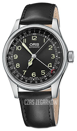 Oris Aviation Czarny/Skóra Ø40 mm 01 754 7696 4064-07 5 20 51