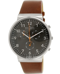 Skagen Ancher Szary/Skóra Ø40 mm SKW6099