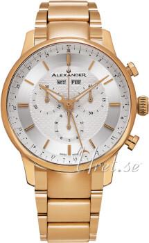 Alexander Statesman Srebrny/Stal w kolorze różowego złota Ø42 mm