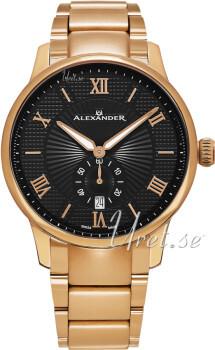 Alexander Statesman Czarny/Stal w kolorze różowego złota Ø42 mm