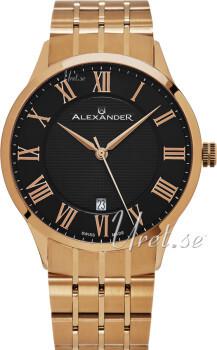 Alexander Statesman Czarny/Stal w kolorze różowego złota