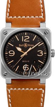 Bell & Ross BR 03-92 Czarny/Skóra
