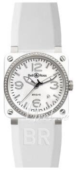Bell & Ross BR 03-92 Biały/Guma