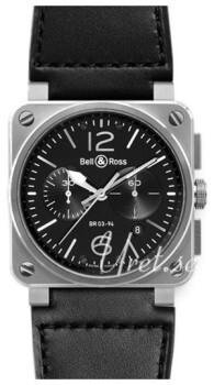 Bell & Ross BR 03-94 Czarny/Skóra